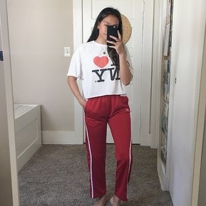 Red Russell Track Pants